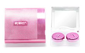 Набор дорожный Розовый металлик